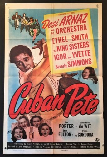 Cuban Pete Original Movie Poster Desi Arnaz 1946    *Hollywood Posters*