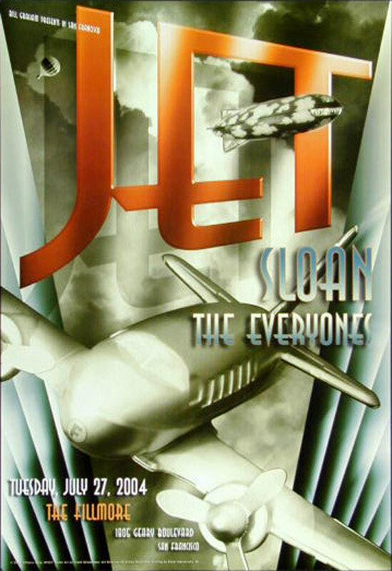 Jet Concert Poster 2004 F-625 Fillmore