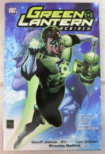 Green Lantern: Rebirth Hardcover Signed by Artist Van Sciver