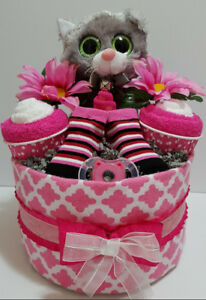 Kitty Cupcakes diaper cake
