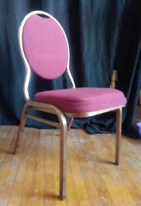 Stackable banquet hall chairs