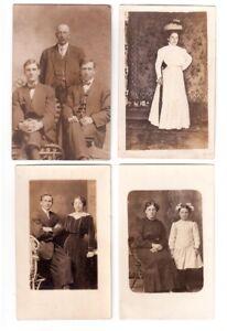 12 cartes postales photos très anciennes en noir/blanc  famille.