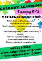 Tutoring all subjects and grades.