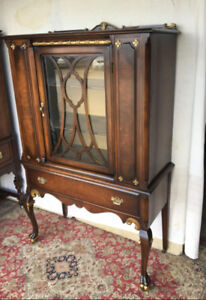 Elegant antique cabinet/hutch, Anthes Baetz, newly refinished