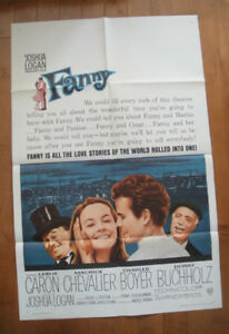 Fanny (1961) Original Movie Poster 1961 Best Picture