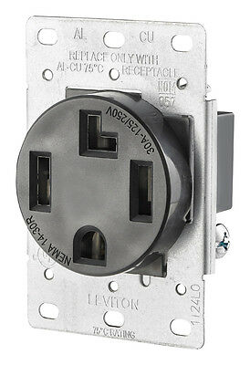 NEW! LEVITON 4-Wire Dryer Flush Mount Power Outlet Receptacle 30 Amps 125/250V ()