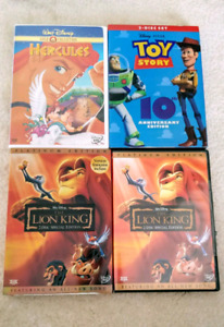 Disney's Hercules toy story and lion king Dvds