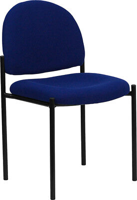 Lot Of 10 Blue Fabric Stack Office Guest Chairs