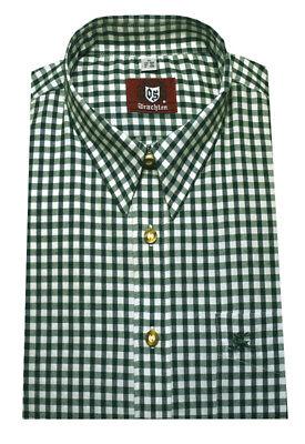 Orbis Trachten Hemd khaki-grün weiß kariert Forst Wandern Jagd OS-0067 Regular ()