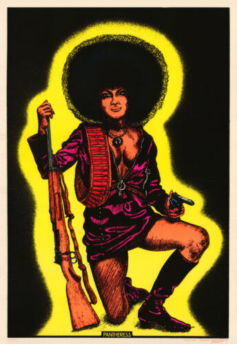 POSTER :POLITICAL: PANTHERESS - BLACK PANTHER PARTY - BLKLITE & FLCKD - #RP73 F