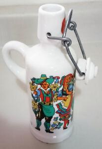 Anton Riemerschmid Ceramic Liquor Bottle Upper Bavarian Costume