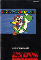 Selling the Manual for Super Mario World for SNES