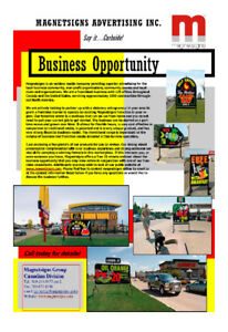 Franchise Opportunity - Magnetsigns Curbside Advertising
