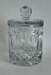 CRYSTAL CANDY/COOKIE JAR CONTAINER w LID NEW IN BOX GREAT GIFT
