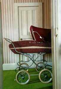 Vintage 1970's Wicker Perego Pram Carriage