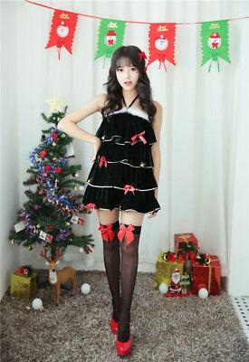 Women's Christmas Tree Dress Costume Santa Claus Fancy Dress Xmas Party - Christmas Tree Dress Costume