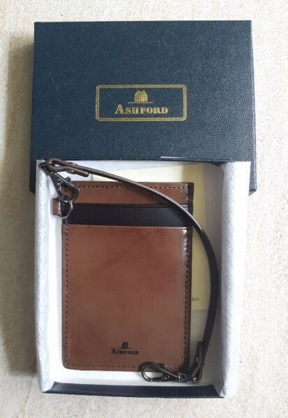 Ashford Leather Card Holder (with Strap) in Brown/Black (brand new) S$40  --> GSS Price!