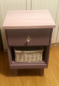 Chalk painted, stained and waxed Side tables