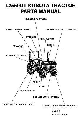 Kubota L Series L2550dt Tractor Parts Manual All Product Index - Digital Pdf