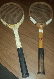 Raquettes de tennis antiques