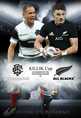 KILLIK CUP-BARBARIANS V NEW ZEALAND-OFFICIAL PROGRAMME-4TH NOVEMBER 2017
