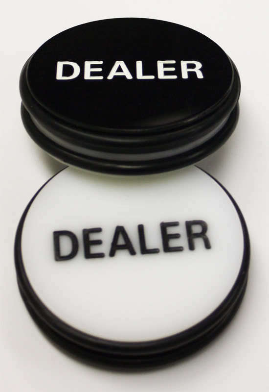 3 Inches Acrylic Dealer Puck Casino Quality Dealer Button Large black white