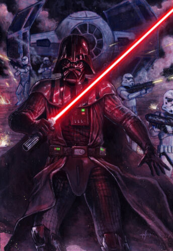 Darth Vader - Star Wars - Acrylic Painting - Marco Russo Art - ENG