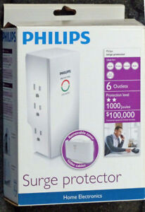 new Philips Surge Protector for Home Electronics