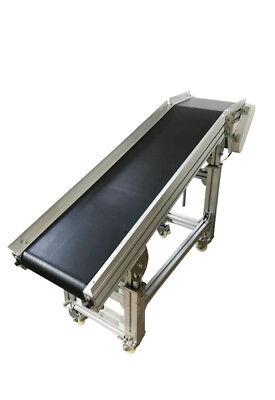 59x11.8 Electric Belt Conveyor Inclined Type Transport Machine Black Pvc 120w