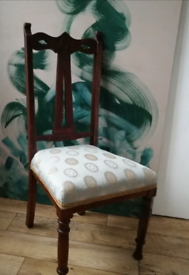 Vintage antique chair newly upholstered