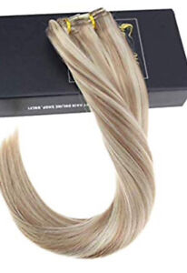 "New 18"" Real Remy Human Hair Clip-in Extensions"
