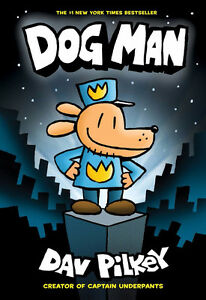 Hard cover book. Dog Man #1 & #2 Books