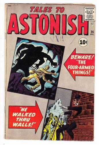 TALES TO ASTONISH #26 - Silver Age 1961 Atlas Marvel - Jack Kirby, Ditko - VG/F