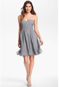 Grey Bridesmaid dress- by Donna Morgan