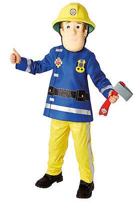 Feuerwehrmann Sam Kinderkostüm Deluxe NEU - Jungen Karneval Fasching Verkleidung (Sam Feuerwehrmann Kostüm)
