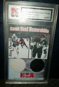 Sidney Crosby Ovechkin Dual Game Jersey Card