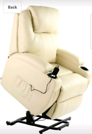 Cream Riser and Recliner Armchair free local delivery