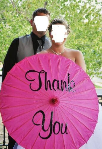 EUC Thank you Parasol Umbrella Wedding Favor