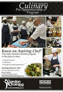 Annoucing a 6 Month Fully Funded Pre Apprentice Chef Program! London Ontario image 1