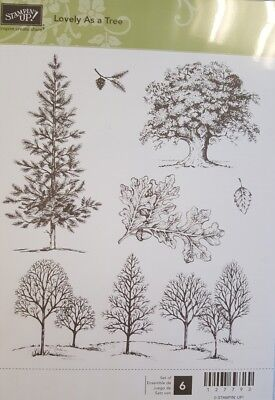 """NEW Stampin' Up """"Lovely as a Tree"""" Cling Foam  Stamp Set"""