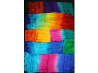 Beautiful silk belly dance veils, can also be used as scarves or lightweight shawls. Rectangle