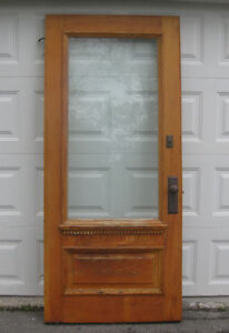 Antique entrance door