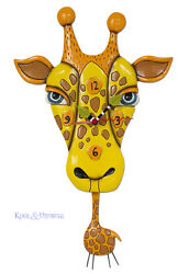 Adorable JAFFY THE GIRAFFE Designer Wall Clock by Allen Designs