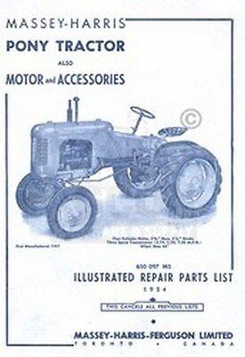 Massey Harris Pony Tractor Repair Part Acc. List Manual
