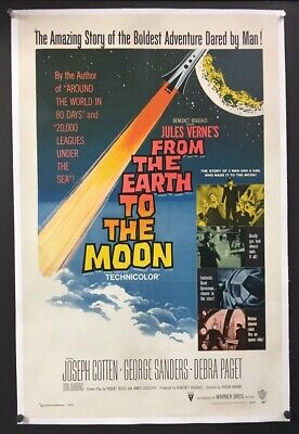 From the Earth to the Moon Original Movie Poster - 1958    *Hollywood
