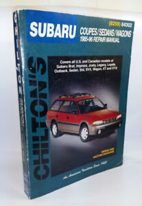 Repair manual  for  Subaru Brat  Impreza Legacy Outback Justy