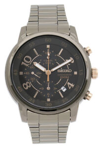 NEW Seiko SNDW83P1 Chronograph Stainless Steel Watch