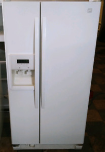 Kenmore side by side fridge with ice and water