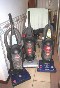 3 Great working Bissell Upright Bagless Vacuums, $50 EACH