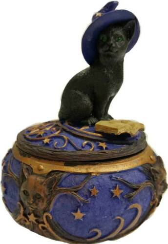Magical Cat Trinket Box ~ Wicca Pagan
